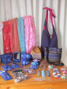 New bags, scarves, and jewellery.