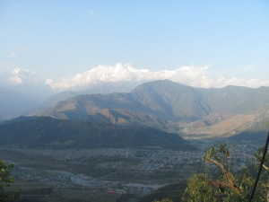Looking down on Pokhara on our way to Mt. Sarangkot