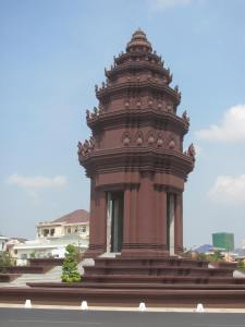 Independence Monument signifying Cambodia's freedom from external powers.