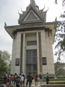 A memorial to all those who were killed at Choeung Ek near Phnom Penh.