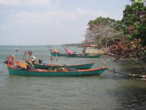 Crab fishing in Kep