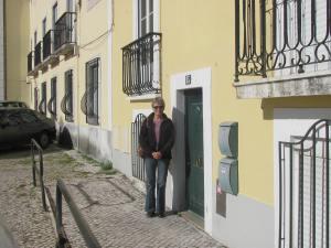 Entrance to Casa Santa Clara in Lisbon.