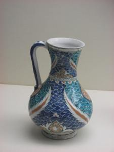 A piece of gorgeous Persian pottery.