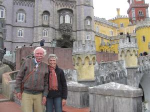 Graham and me in front of the Palacio da Pena in Sintra.