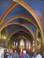 The lower chapel of the Sainte - Chapelle.