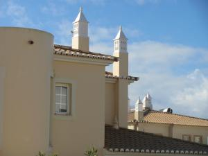 Typical chimneys on the homes in the Algarve.