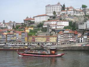Picturesque Porto from across the Duoro River.