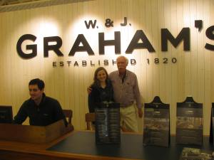 Graham with our tour guide at Graham's winery.