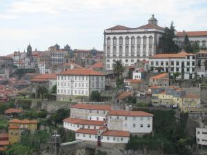 A view of Porto from the upper level of the bridge.