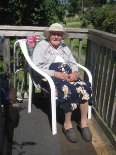 Vera Casey, wife of Joe, in her 96th year at her home.