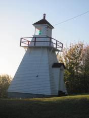 Victoria Beach lighthouse.