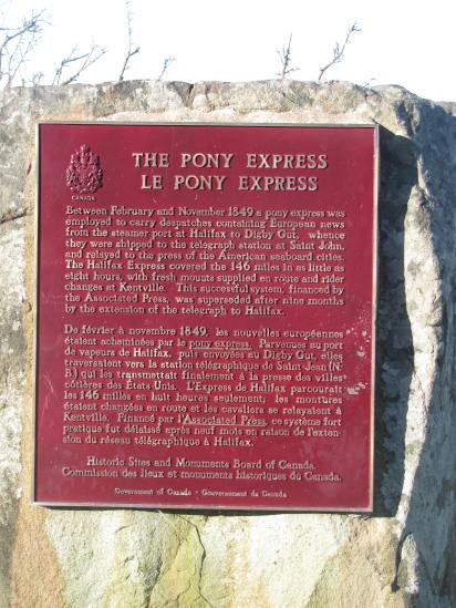 Plaque to the Pony Express.