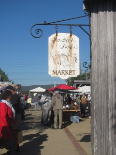 The Saturday morning Farmer's Trade Market.