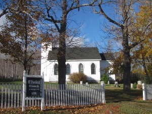 Old Anglican church in Karsdale.