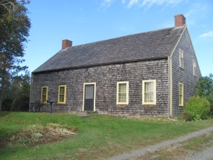 Nova Scotian saltbox home circa 1730, now the North Hills Museum in Granville Ferry.