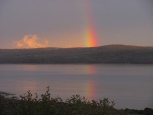 Taken from 'my road' one evening while traveling to  Annapolis Royal.