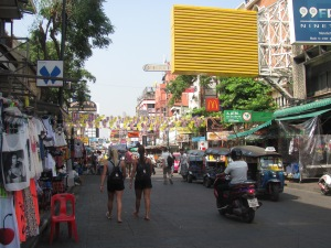 Khao San Road - famous backpacker row.