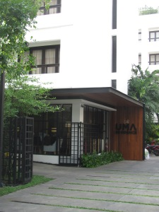 Entrance to the Uma Residence hotel.
