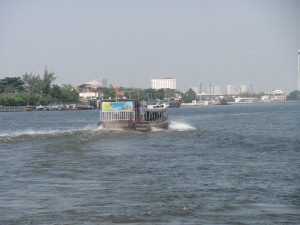 One of the ferries that transported me down the Chao Phraya River.