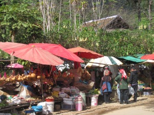 The market in Santikhiri.
