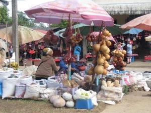 Wooden gourds? were everywhere.