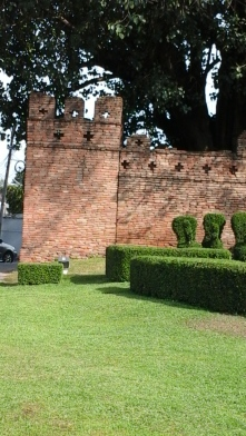 Part of the wall at the west gate.