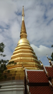 The chedi where the Emerald Buddha was found.
