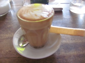 A latte at Espresso Cafe-delicious!