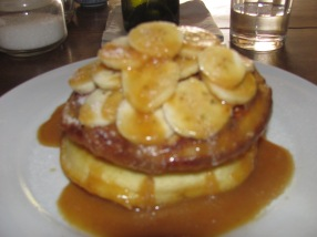 Banana pancakes at Espresso Cafe.