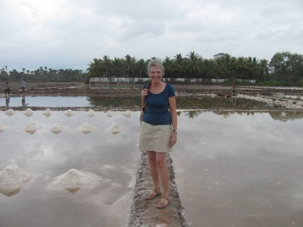 Woman not working in the salt fields!