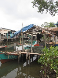 A Muslim fishing village.