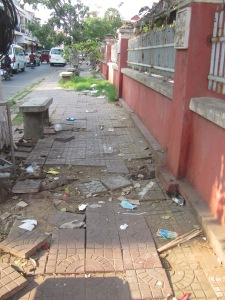 A typical garbage-ridden street.