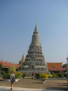 The Silver Pagoda on the grounds of the Royal Palace.