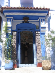 Doorway to a home in Chefchouan - the blue city in Northern Morocco.