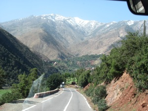 Our bus ride through the Middle Atlas Mountains.
