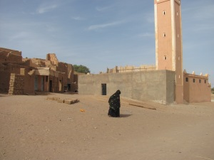 The ultra traditional style in small desert village in the south.
