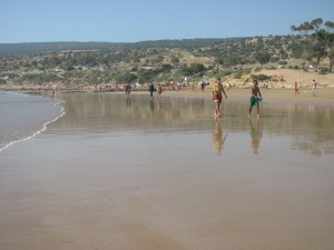 The beach at Agadir.