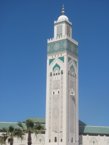 The beautiful Hassan II Mosque in Casablanca.