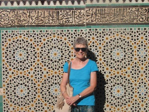 Couldn't resist a photo with this intricate tiled backdrop.