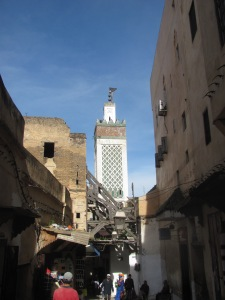 A minaret overlooking the medina in Fez.