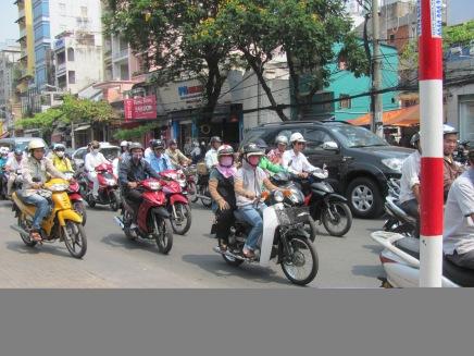 Typical traffic scene in Viet Nam