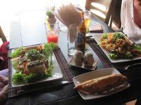A delicious lunch at the beach near Hoi Han