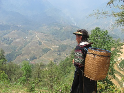 A woman from the Black Hmong tribe