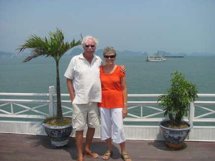 Hubby and me back together in Halong Bay