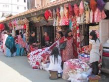 A fair-trade market in Patan.