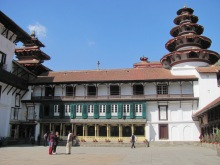 The Royal Palace (now a museum) in Kathmandu.