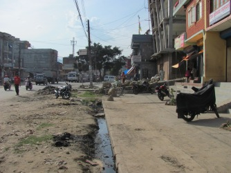 A fairly typical street in Pokhara.