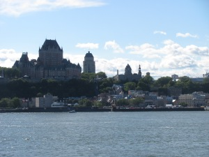 Quebec City with the Chateau Frontenac dominating.