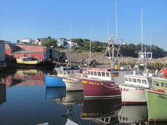Boats at anchor in St. Mary's harbour