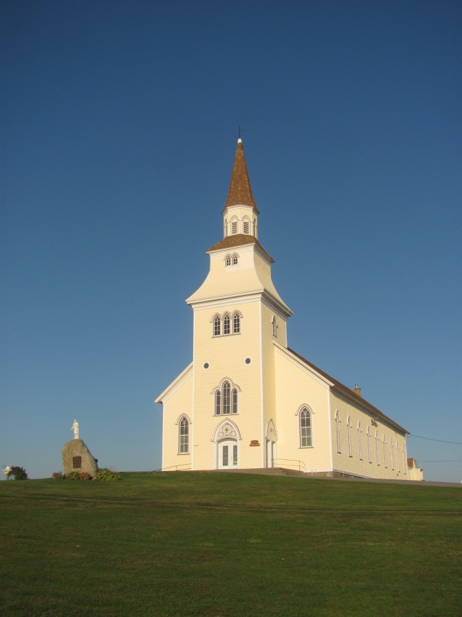Church at Saulierville on the Clare shore